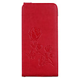 Case For Huawei P9 Lite P8 Lite (2017) Card Holder Wallet with Stand Flip Magnetic Embossed Pattern Full Body Flower Hard PU Leather for