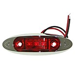 Sencart 1pc 3LED 2835SMD Red LED Clearance Side Marker Light Truck Car Van Trailers Lamp DC12V