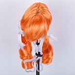 Dog Tiaras & Crowns Wig Dog Clothes Stylish Striped Orange Costume For Pets
