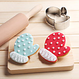 Christmas Gloves Cookies Cutter Stainless Steel Biscuit Cake Mold Fondant Baking Tools