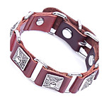 Men's Bracelet Link Bracelet Vintage Rock Leather Circle Geometric Jewelry For Casual Club