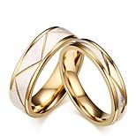 Men's Women's Rings Set Engagement Ring Classic Elegant Titanium Steel Circle Jewelry For Wedding Evening Party