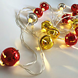 Недорогие -1pc 20 leds led string light bell shape gold& серебряный цвет (отсутствие красного цвета) 3 * aa батарея без батареи