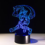 LED 3D Stereo Visual Creative Dream Light Romantic Night Light USB or 3*AAA Battery Powered (No Battery)