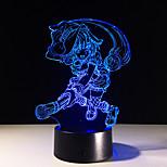 led 3d стерео визуальный творческий свет мечты романтический свет ночи usb или 3 * aaa батарея приведенная в действие (отсутствие батареи)