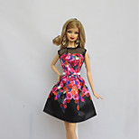 Party/Evening Dresses For Barbie Doll Black For Girl's Doll Toy
