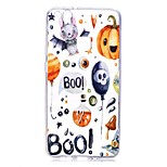 Case For Huawei P8 Lite (2017) P10 Lite Transparent Pattern Back Cover Word / Phrase Halloween Soft TPU for Huawei P10 Lite Huawei P10