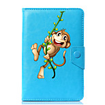 Universal Cartoon Monkey PU Leather Stand Cover Case For 7 Inch 8 Inch 9 Inch 10 Inch Tablet PC