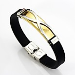 cheap -Men's Link Bracelet , Basic Fashion Leather Stainless Gold Silver Geometric Line Jewelry Daily Ceremony Costume Jewelry
