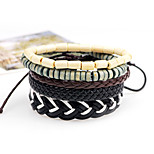 Men's Bracelet Oversized Rock Hiphop Statement Jewelry Cord PU leather Jewelry Jewelry For Daily Casual
