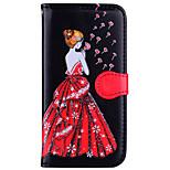 Недорогие -Кейс для Назначение Xiaomi Redmi 4X Redmi 4a Бумажник для карт со стендом Рельефный Чехол Соблазнительная девушка Сияние и блеск Твердый