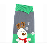 cheap -Dog Sweater Dog Clothes Christmas Christmas Gray Costume For Pets