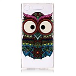 Case For Sony Xperia XZ1 Xperia XA1 Ultra-thin Transparent Embossed Pattern Back Cover Owl Soft TPU for Sony Xperia XZ1 Sony Xperia XA1