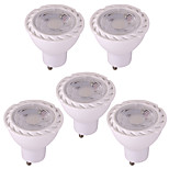 5pcs 6W GU10 Focos LED 7 leds SMD 2835 Luces LED Decorativa Blanco Cálido Blanco Fresco 550lm 2800-3500;5000-6500