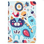 Case For Apple iPad 10.5 iPad (2017) with Stand Flip Pattern Auto Sleep/Wake Up Full Body Cat Cartoon Animal Hard Textile for iPad pro