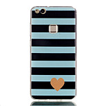 cheap -Case For Huawei P8 Lite (2017) P10 Lite Ultra-thin Pattern Back Cover Lines / Waves Heart Soft TPU for P10 Lite P10 P9 Lite P8 Lite P8