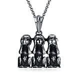 Недорогие -Муж. Обезьяна Животные Хип-хоп Массивные украшения Ожерелья с подвесками , Нержавеющая сталь Ожерелья с подвесками , Карнавал