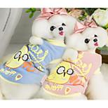 Cane Gilè Abbigliamento per cani Casual Cartoni animati Blu Rosa Costume Per animali domestici