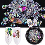cheap -Ornaments Rhinestones Nail Jewelry Jeweled Sparkle Sparkle/Shine Mixed As Picture (color may vary by monitor) Jewelry