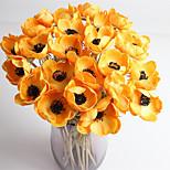Недорогие -1 Филиал Полиуретан Розы Букеты на стол Искусственные Цветы