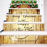 Недорогие -Цветочные мотивы/ботанический Рождество Наклейки Корпус Простые наклейки 3D наклейки Декоративные наклейки на стены Свадебные наклейки,