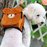 Недорогие -Кошка Собака рюкзак Животные Корпусы Мини Прогулки Компактность Складной Эластичный Контрастных цветов Милый Мультипликация Оранжевый