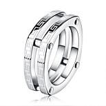 Men's Women's Band Rings Classic Fashion Stainless Steel Geometric Jewelry For Graduation Gift