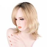 Недорогие -жен. Парики из искусственных волос Средний Волнистый Блондинка Природные волосы С чёлкой Парики для косплей Парик из натуральных волос
