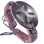 cheap -Men's Bracelet , Ethnic Cool Leather Alloy Cross Circle Jewelry Halloween Carnival