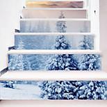 Недорогие -ботанический Рождество Наклейки Корпус Простые наклейки 3D наклейки Декоративные наклейки на стены Свадебные наклейки,Бумага Винил