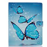 Custodia Per Apple iPad Air 2 iPad mini 4 A portafoglio Porta-carte di credito Con supporto Integrale Farfalla Resistente Similpelle per