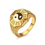 Недорогие -Муж. Классические кольца , На каждый день европейский Мода Нержавеющая сталь Геометрической формы Бижутерия Праздники На выход