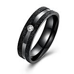 Недорогие -Муж. Классические кольца На каждый день Мода Нержавеющая сталь Круглый Бижутерия Для вечеринок Повседневные