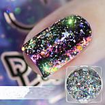 cheap -1pc Glitters Sparkle Laser Holographic Glitter Powder Multi-Colored Nail Art Design