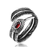 cheap -Men's Band Rings Cubic Zirconia Fashion Oversized Cool Titanium Steel Irregular Jewelry Daily Street