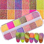 Недорогие -1 комплект Блеск и сияние Декоративные Гель для ногтей Порошок блеска порошок Советы для ногтей Дизайн ногтей