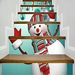 Недорогие -Рождество фантазия Наклейки Корпус Простые наклейки 3D наклейки Декоративные наклейки на стены Свадебные наклейки,Бумага Винил Украшение