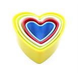 Недорогие -5 шт / комплект 5 размеров сердце выпечки плесень пластиковые печенье пресс-формы кухонные инструменты выпечка