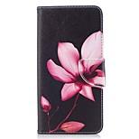 Недорогие -Кейс для Назначение OnePlus Кошелек Бумажник для карт со стендом Флип С узором Магнитный Чехол Цветы Твердый Искусственная кожа для