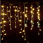 cheap -Waterproof 150 LEDs 3x1M String Light Warm White Linkable Decorative AC Powered