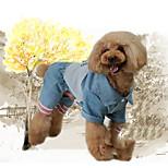 Недорогие -Собака Толстовка Комбинезоны Одежда для собак Стиль Для отдыха модный Животные Пэчворк Буквы и цифры Синий Костюм Для домашних животных