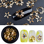 cheap -Fashionable Jewelry Luxury Accessories Nail Jewelry Sequins Nail Glitter Gold 0.001kg/box Nail Art Decoration