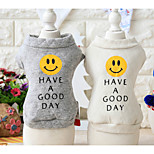 Dog Sweatshirt Dog Clothes Casual/Daily Print Gray White Costume For Pets
