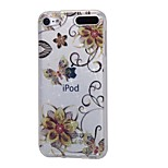 cheap -Case For Apple Ipod Touch5 / 6 Case Cover High Penetrating Powder IMD Golden Flower Butterfly Soft TPU Phone Case