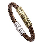 Men's Bracelet , Bohemian Elegant Leather Alloy Circle Jewelry For Daily Street
