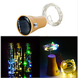 Недорогие -10led солнечный шнур бутылка бутылки пробкой медь фея полоса провода наружная партия украшения