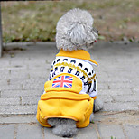 cheap -Dog Jumpsuit Dog Clothes Casual/Daily National Flag Blue Green Red Yellow Costume For Pets