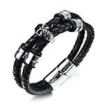 cheap -Men's Bracelet ID Bracelets , Fashion Rock Leather Titanium Steel Geometric , Jewelry Daily Street