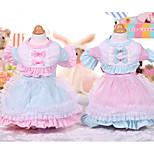 Собака Платья Одежда для собак На каждый день Принцесса Синий Розовый Костюм Для домашних животных