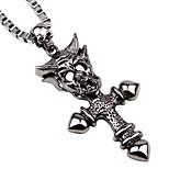 Men's Pendant Necklaces Chain Necklaces Alloy Pendant Necklaces Chain Necklaces , Rock Gothic Date Festival